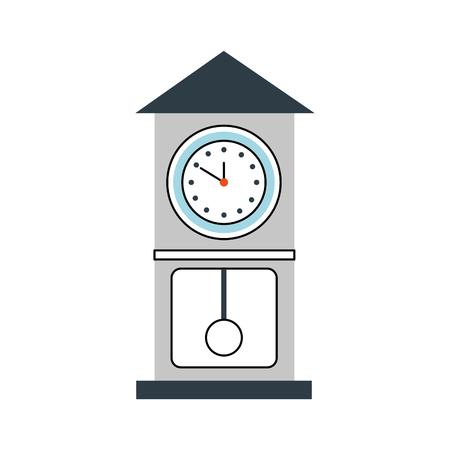 pendulum: vintage clock pendulum decoration office element vector illustration