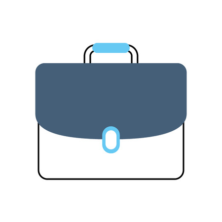 business briefcase document portfolio accessory vector illustration