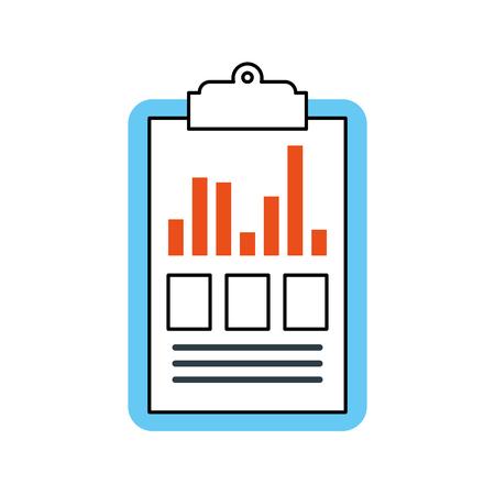 クリップボードビジネスグラフチェックリストレポートベクトルイラスト  イラスト・ベクター素材