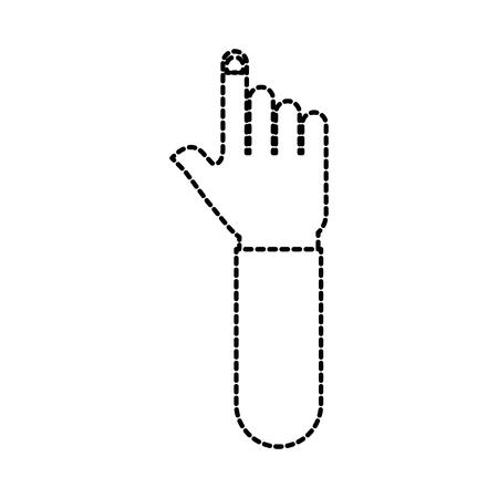 hand pointer gesture symbol icon vector illustration
