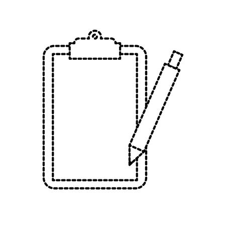 Klembord controlelijst met schrijf pen werk element vectorillustratie Stock Illustratie