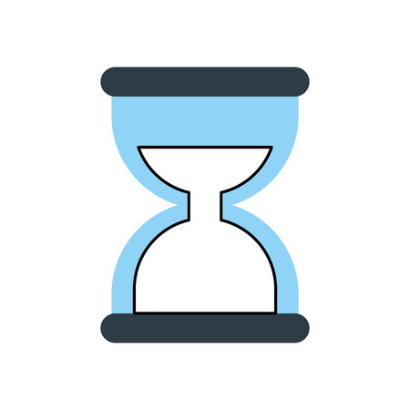 business time management hourglass and finance clock vector illustration Ilustração