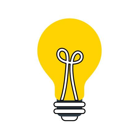 bulb light idea creativity inspiration concept vector illustration Ilustração
