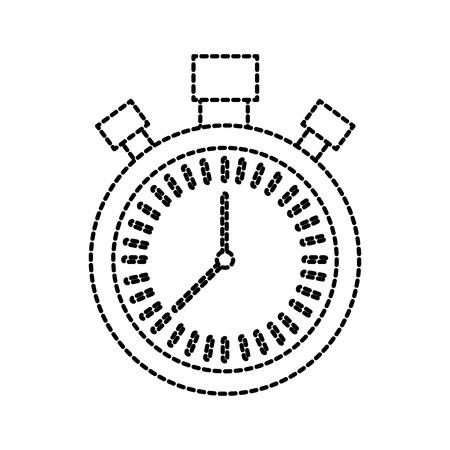 크로노 미터 카운트 다운 속도 타이머 개체 아이콘 벡터 일러스트 레이션