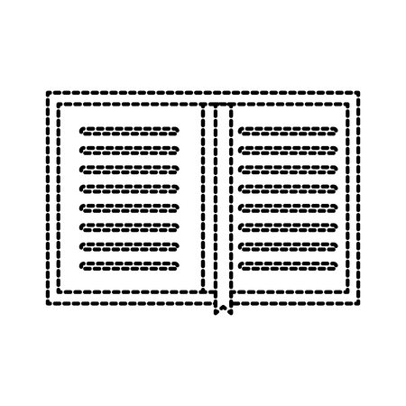 bovenaanzicht van een boek persoonlijke organisator bladwijzer bladwijzer vectorillustratie Stock Illustratie