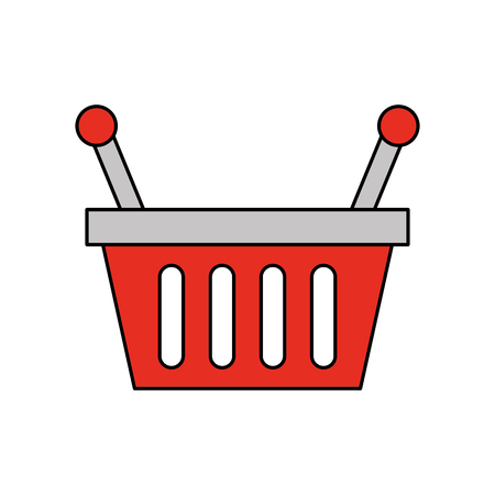 Ilustración de vector de objeto de mango de supermercado de compras de cesta