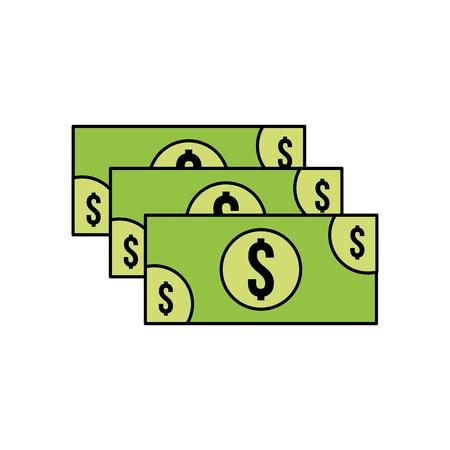 スタックの紙幣現金貨幣通貨ドルベクトルイラスト 写真素材 - 85288590