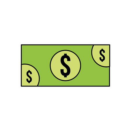 banknote money cash currency payment icon vector illustration