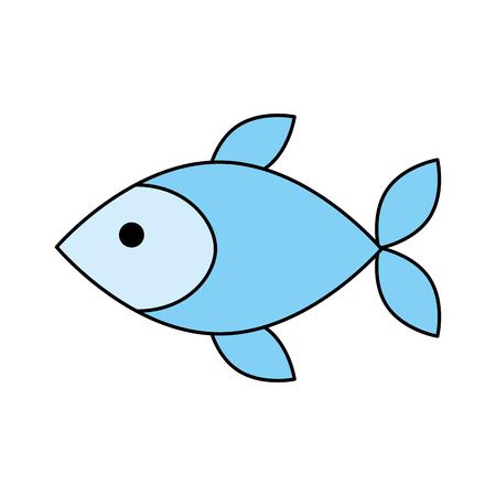 Fisch Shop Store Markt mit Frische Meeresfrüchte Mahlzeit Vektor-Illustration Standard-Bild - 85285174