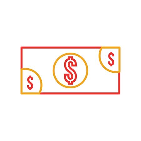 bankbiljet geld contant geld betaling pictogram vector illustratie