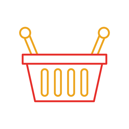 basket shopping supermarket handle object vector illustration