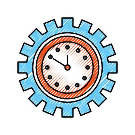 Horloge à l & # 39 ; intérieur de l & # 39 ; entreprise de travail de Banque d'images - 85288253