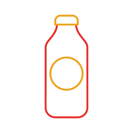 bottle juice drink market product element vector illustration Ilustracja