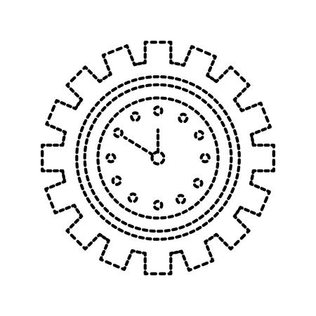 Horloge à l & # 39 ; intérieur de l & # 39 ; entreprise de travail de Banque d'images - 85285203