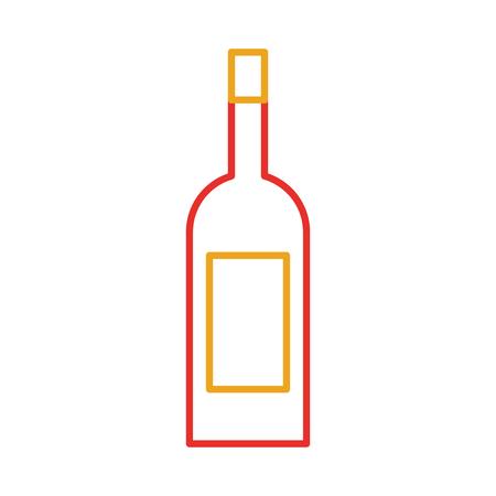 ワインボトルドリンク飲料市場製品ベクターイラスト