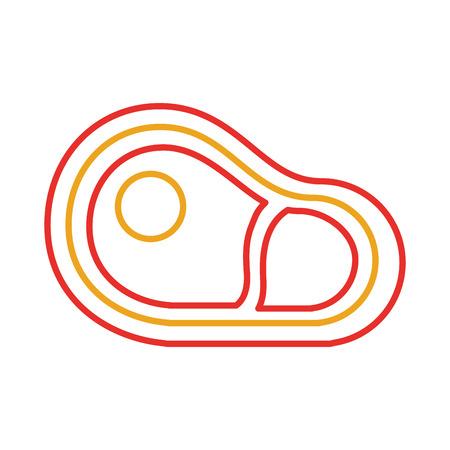 Verse Ruwe Biefstuk Biefstuk Voor Markt Vector Illustratie