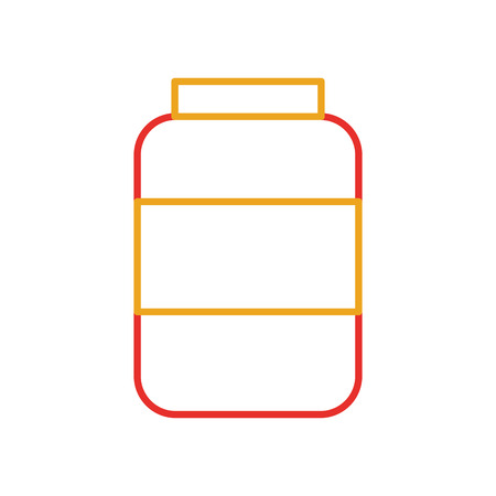 bottle sausage market condiment ingredient icon vector illustration