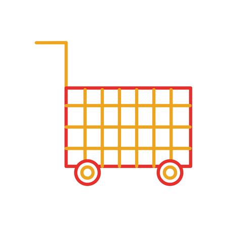 カートショッピング空のスーパーマーケット楽器オブジェクトコマースベクトルイラスト  イラスト・ベクター素材