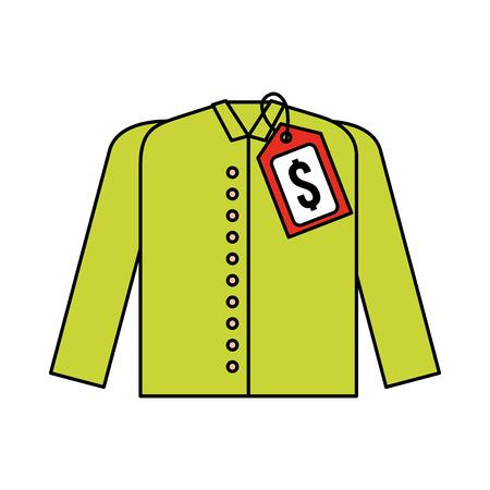 시장 복장 가격 태그 새로운 착용 셔츠 벡터 일러스트 레이션 스톡 콘텐츠 - 85285224