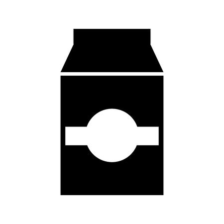 milk or juice box carton with drinking