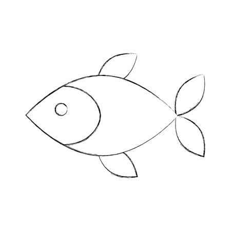 Fisch Shop Store Markt mit Frische Meeresfrüchte Mahlzeit Vektor-Illustration Standard-Bild - 85288873