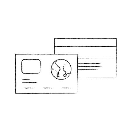 credit debit card banking shop vector illustration 向量圖像