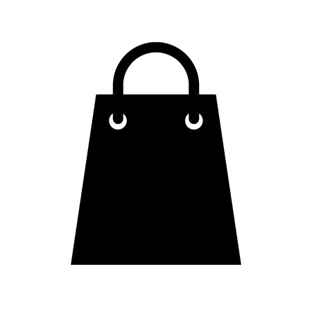paper gift bag shopping commerce market vector illustration Ilustração