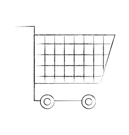 cart shopping empty supermarket instrument object commerce