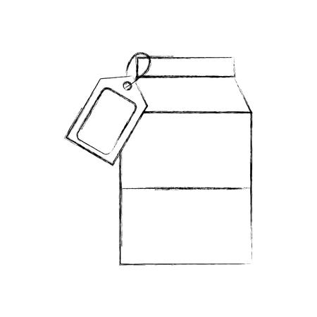 sap doos karton drinken prijskaartje en barcode scanner vector illustratie
