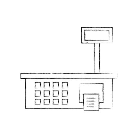 体重計メジャースーパーマーケット機器ベクトルイラスト  イラスト・ベクター素材