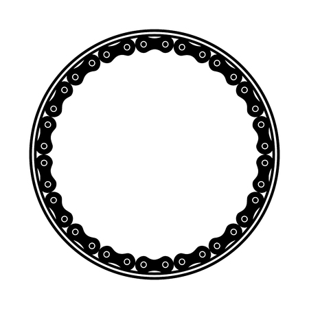 frame with chain bicycle vector illustration design Çizim