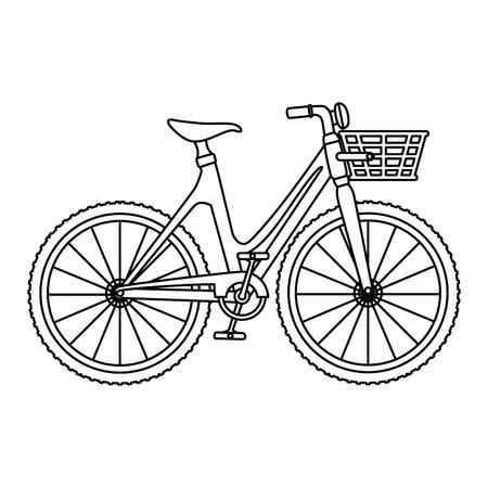 バスケット ベクトル イラスト デザインでかわいい自転車  イラスト・ベクター素材
