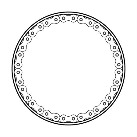 frame with chain bicycle vector illustration design Illustration