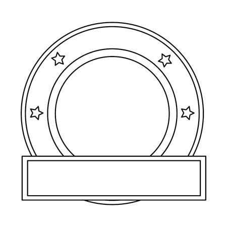 certificate template: elegant seal with ribbon vector illustration design Illustration