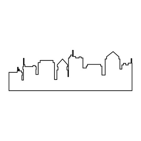 Silhouette de paysage urbain icône isolé illustration vectorielle design Banque d'images - 85323329