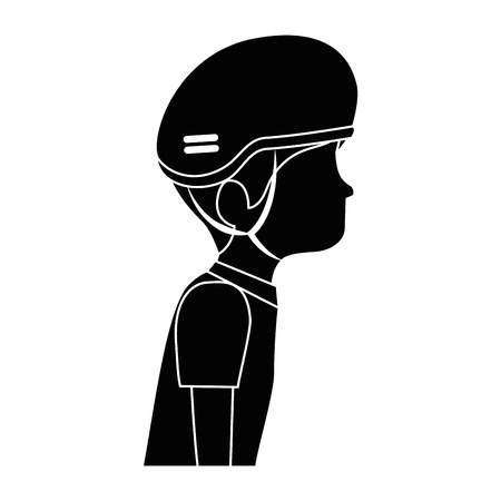 man with bicycle helmet vector illustration design Illustration