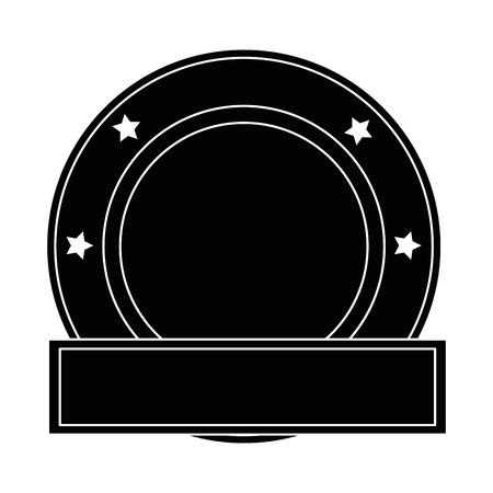 Elegant seal with ribbon vector illustration design