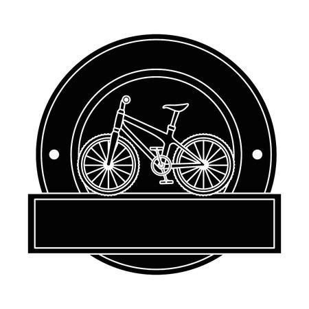 Elegant frame with bicycle design