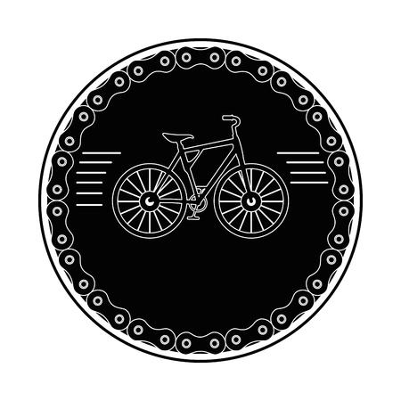 Elegant frame chain with bicycle design Illustration