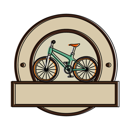 racing sign: Bicycle  illustration.