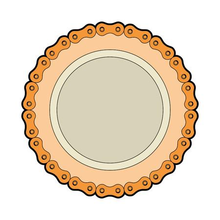 frame met ketting fiets vector illustratie ontwerp