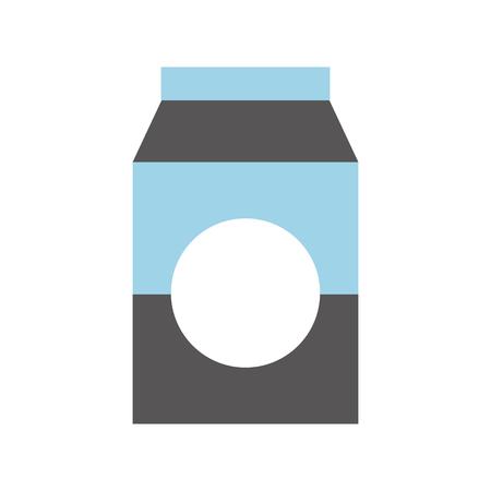 Leche o jugo de cartón caja con bebida ilustración vectorial Foto de archivo - 85357457