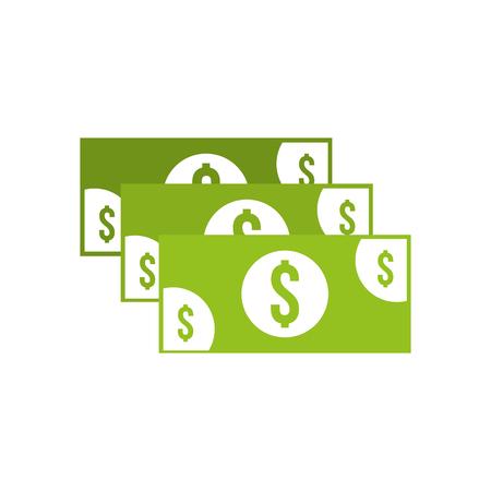 スタックの紙幣現金貨幣通貨ドルベクトルイラスト 写真素材 - 85357520