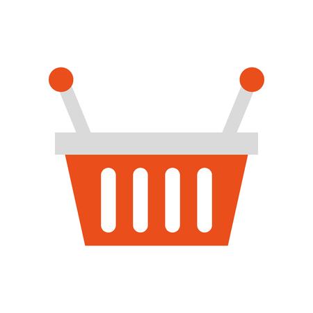 Panier magasin supermarché manipuler objet vecteur illustration Banque d'images - 85357814