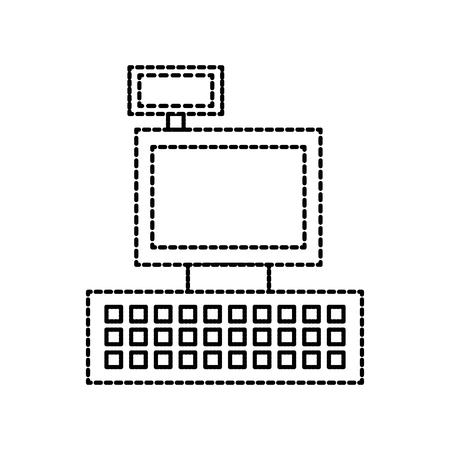 Caisse enregistreuse machine à café pour supermarché illustration vectorielle Banque d'images - 85358555