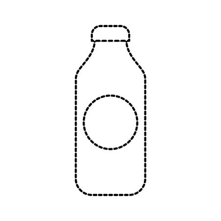 bottle juice drink market product element vector illustration Illustration