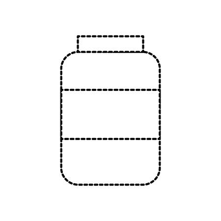 Ilustración de vector de icono de ingrediente de condimento de botella salchicha mercado