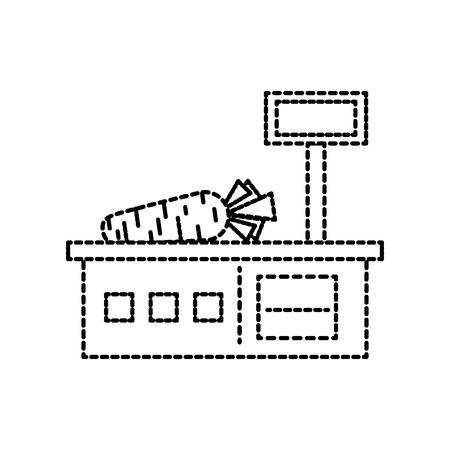 重量スケール メジャー スーパー マーケット装置ベクトル図
