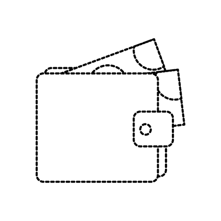 ウォレットマネー紙幣ドル現金支払ベクトルイラスト  イラスト・ベクター素材