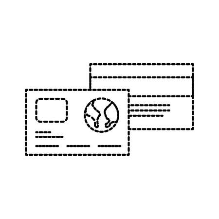 credit debit card banking shop finance icon vector illustration
